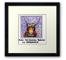 pinky The Cockroach Playing Harmonica Framed Print