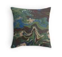 Aerial Topography Throw Pillow