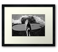 Caught Her Attention Framed Print