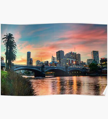 Melbourne Sunset Poster