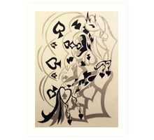 spade of horses Art Print