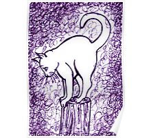Big Girl in Purple Fog Poster