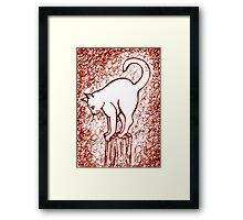Big Girl in Red Fog Framed Print