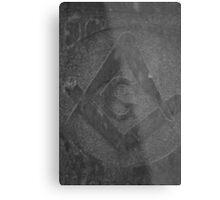 Masonic Gravestone Square & Compass Metal Print