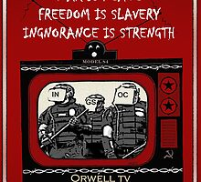 Orwell TV Doublethink War is Peace  by wildwildwest