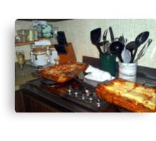 Party ready lasagna Canvas Print