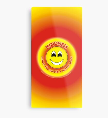 Kindness Makes The World a Better Place - Yellow Cases Metal Print