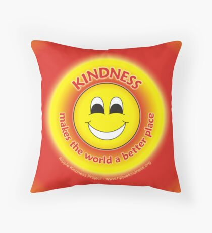 Kindness Makes The World a Better Place - Yellow Cases Throw Pillow