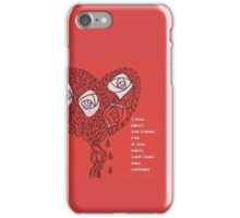 The Bleeding Heart - Painting The Roses Red iPhone Case/Skin