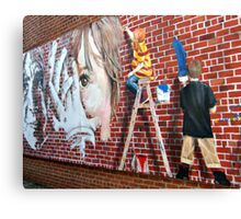 Photograph of A Painting of Young Artists Painting Canvas Print