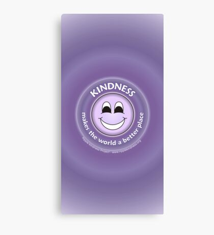 Kindness Makes The World a Better Place - Purple Cases Canvas Print