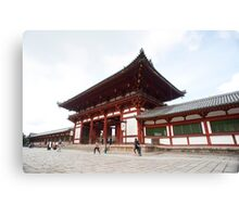 Todai-ji Temple Gate Canvas Print