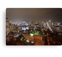 tokyo city lights Canvas Print