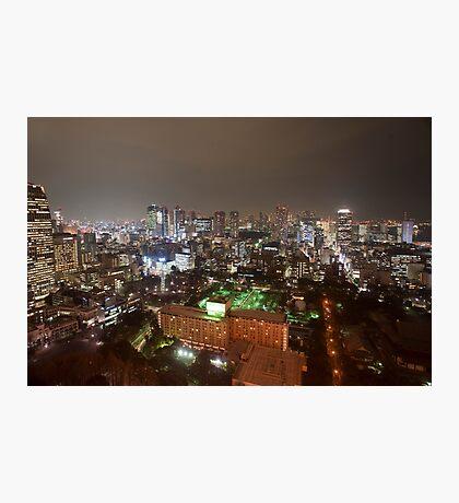 tokyo city lights Photographic Print