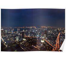tokyo odiaba at night Poster
