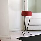 once more, the red stool by Evelyn Bach