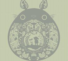 Totoro Cut Out Design by FancyForsythia