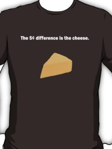 5 Cent Difference White Font T-Shirt