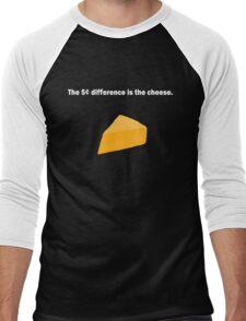 5 Cent Difference White Font Men's Baseball ¾ T-Shirt