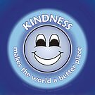 Kindness Makes The World a Better Place - Blue Card by RippleKindness