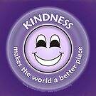 Kindness Makes The World a Better Place - Purple Card by RippleKindness