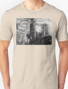 Drawing of the Philadelphia skyline Unisex T-Shirt