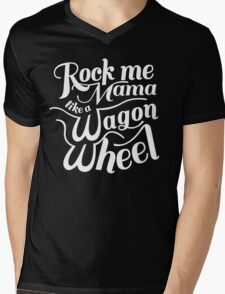 Wagon Wheel Mens V-Neck T-Shirt