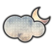 Cloudy moon by scarletprophesy