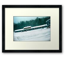 Motel During a SnowStorm Framed Print