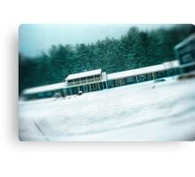 Motel During a SnowStorm Canvas Print