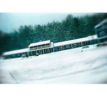 Motel During a SnowStorm Photographic Print