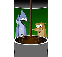 Mordecai, Rigby, and Coffee Photographic Print