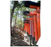 line of torii gates Poster