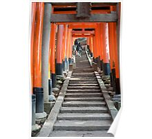 torii gates and steps Poster