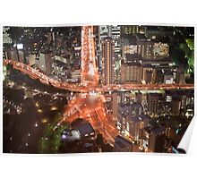 tokyo roads at night Poster