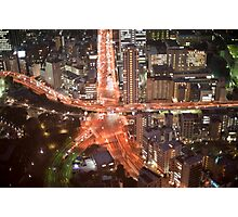 tokyo roads at night Photographic Print