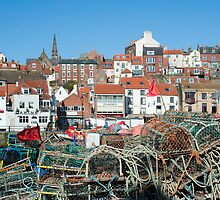 Crab and lobster pots at Whitby by photoeverywhere