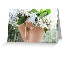 spring time wedding  Greeting Card