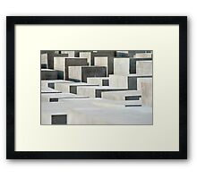 holocaust memorail blocks Framed Print