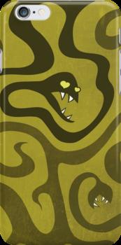 Funny Cartoon Evil Snakes by Boriana Giormova