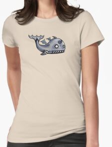 Flying Whale Womens Fitted T-Shirt