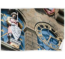Cardiff Castle Clock Tower detail Poster