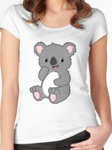 Cute Kawaii Koala Women's Fitted Scoop T-Shirt