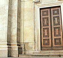 Outside the Church Sticker