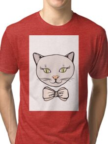 Cute Kitty Tri-blend T-Shirt