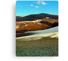 Scenic view below the Bohemian Forest | landscape photography Canvas Print