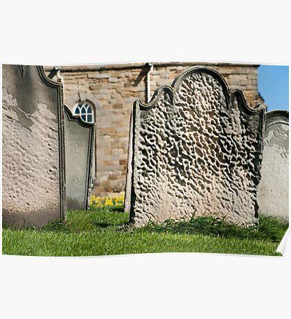 Gravestones at St Marys Church Poster