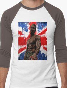Anthony Joshua Boxing British Flag Rectangle  Men's Baseball ¾ T-Shirt