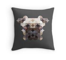Puggy on Gray Throw Pillow