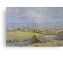 Salthouse from the Heath, North Norfolk by Brian C. Day Metal Print